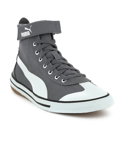 Puma Unisex Grey 917 FUN Mid IDP Mid-Top Sneakers  available at myntra for Rs.1479