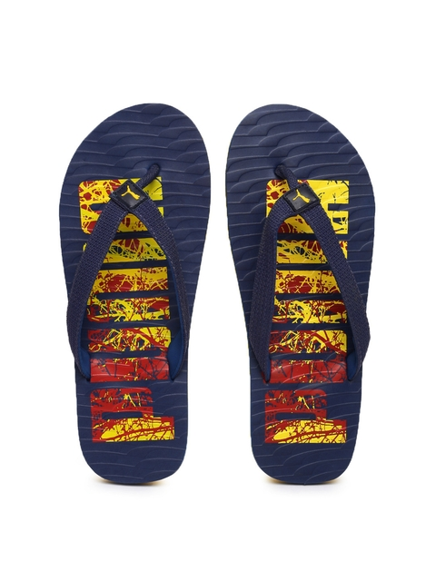 Puma Unisex Navy Printed Miami Fashion DP Flip-Flops  available at myntra for Rs.384