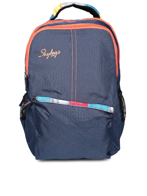 Skybags Unisex Navy Solid Backpack