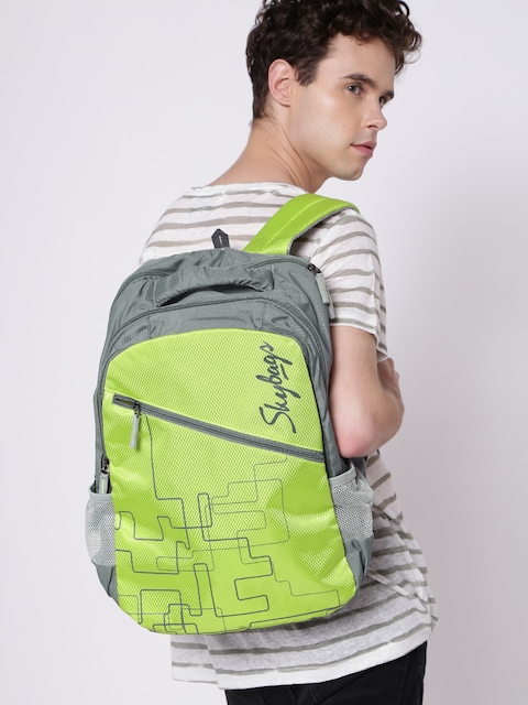 Skybags Unisex Green Graphic Print Backpack