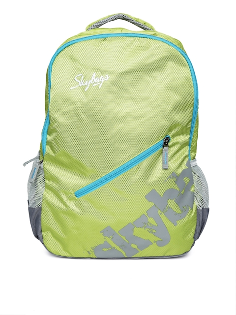 Skybags Unisex Green Printed Backpack