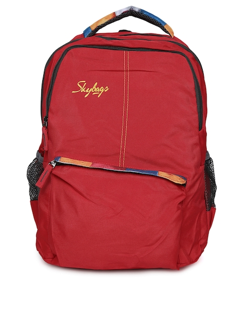 Skybags Unisex Red Solid Backpack