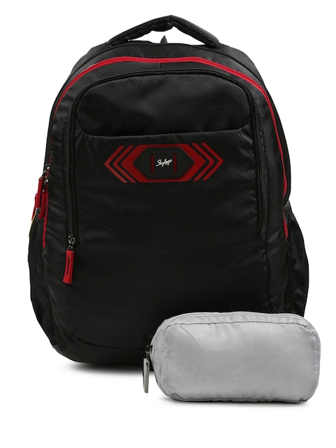 Skybags Unisex Black Footlose Viber 02 Textured Backpack