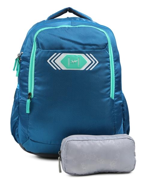 Skybags Unisex Blue Footloose Viber 02 Textured Backpack