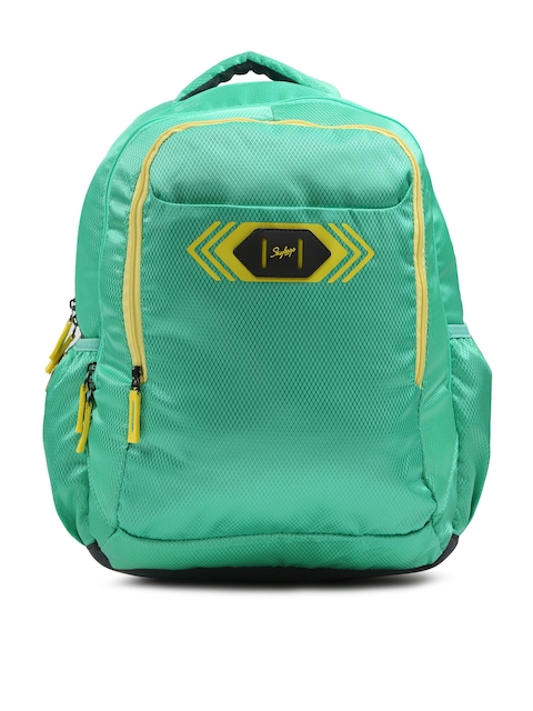 Skybags Unisex Green Footlose Viber 02 Textured Backpack
