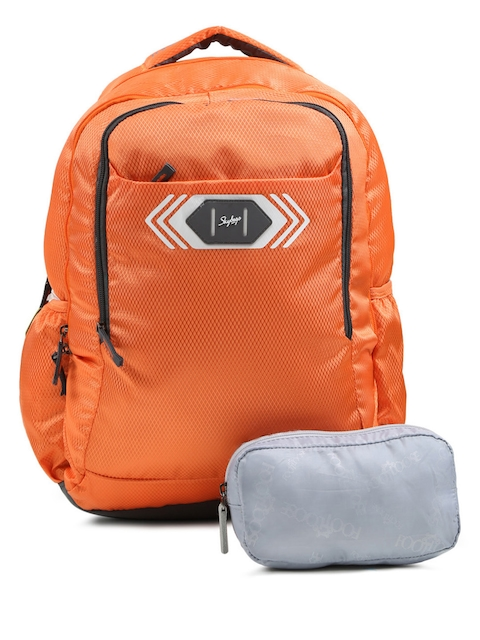 Skybags Unisex Orange Footloose Viber 02 Textured Backpack