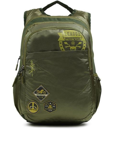 Skybags Unisex Olive Green Footloose Blitz 04 Textured Backpack