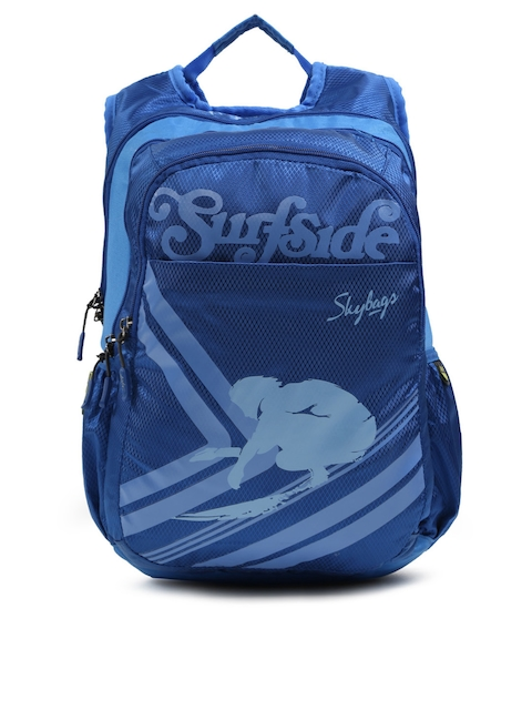 Skybags Unisex Blue FOOTLOOSE BLITZ  Graphic Print Backpack