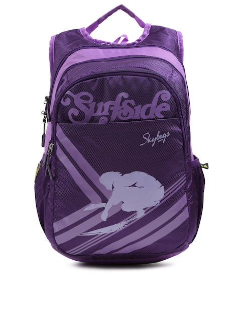 Skybags Unisex Purple Footloose Blitz 05 Textured Laptop Backpack