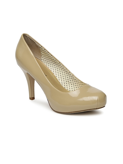 Steve Madden Women Nude-Coloured Solid Pumps