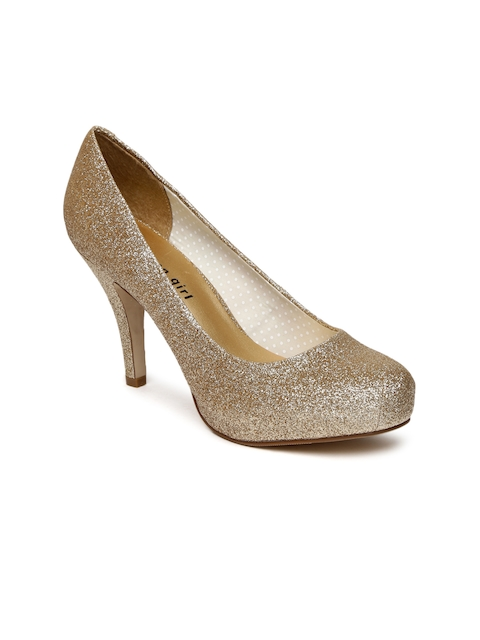 Steve Madden Women Gold-Toned Shimmery Pumps