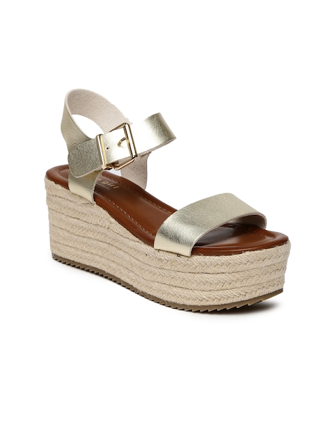 Steve Madden Women Gold-Toned Solid Wedges