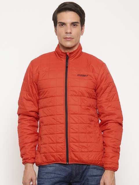 Wildcraft Men Orange Solid Puffer Adri Husky Packable Jacket