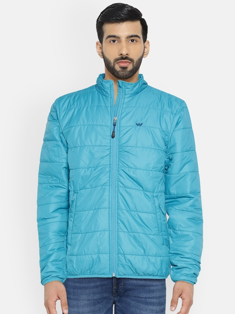 Wildcraft Men Blue Solid Lightweight Puffer Micro Pack Jacket