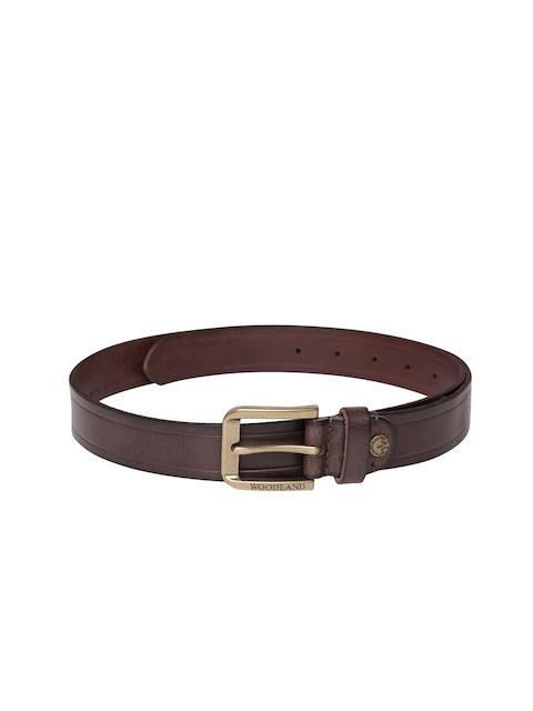 Woodland ProPlanet Men Brown Solid Leather Belt