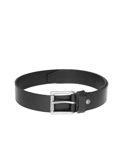 Woodland ProPlanet Men Black Solid Leather Belt