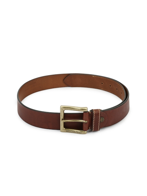 Woodland Men Brown Solid Genuine Leather Belt