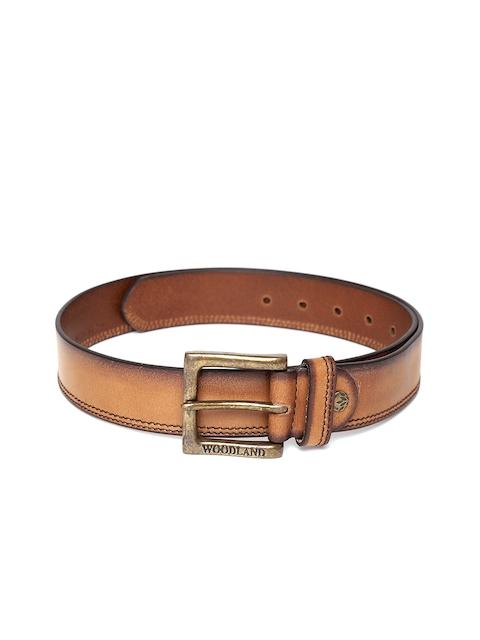 Woodland ProPlanet Men Tan Brown Solid Leather Belt