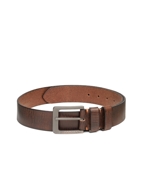 Woodland Men Brown Genuine Leather Belt