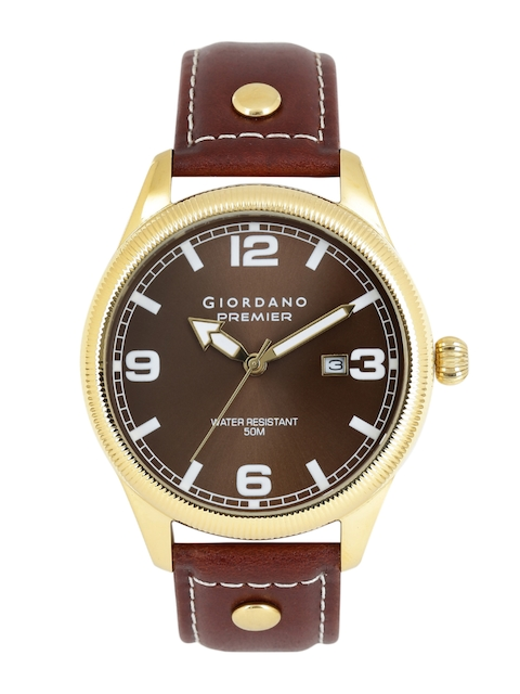 GIORDANO Men Brown Analogue Watch P170-03
