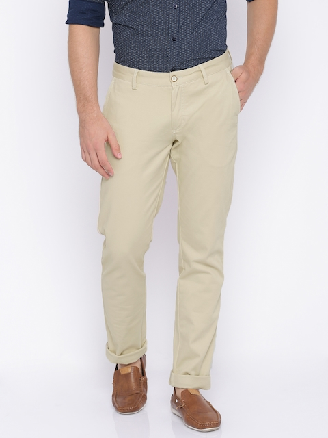Allen Solly Men Brown Smart Slim Fit Chino Trousers