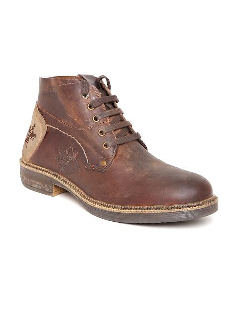 Buckaroo Men Brown Rodrijon NX Leather Flat Boots