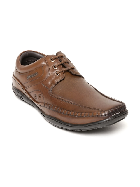 Buckaroo Men Brown Leather Derbys
