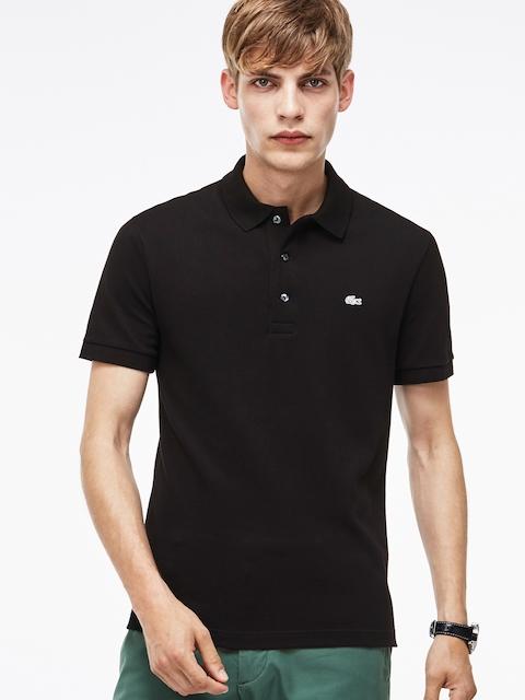 Lacoste Men Black Solid Polo