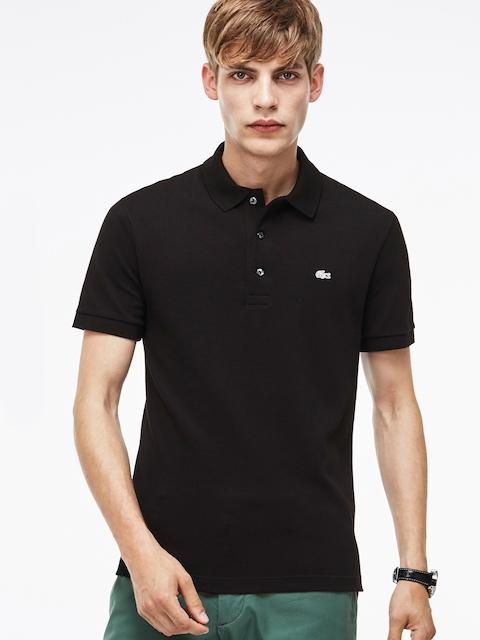 Lacoste Black Slim Fit Stretch Petit Pique Polo