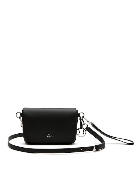 Lacoste Black Self Design Sling Bag