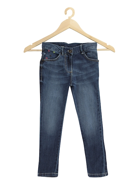 Tickles Girls Blue Skinny Fit Mid-Rise Clean Look Stretchable Jeans  available at myntra for Rs.499