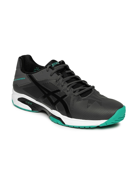 ASICS Men Charcoal GEL-SOLUTION SPEED 3 Tennis Shoes
