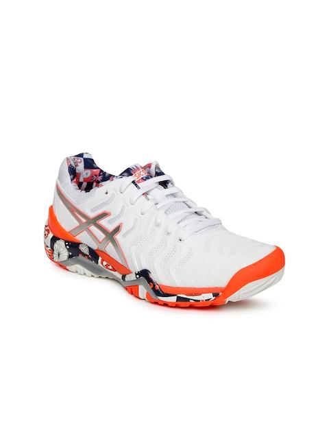ASICS Women White Gel-Resolution 7 L.E. London Tennis Shoes