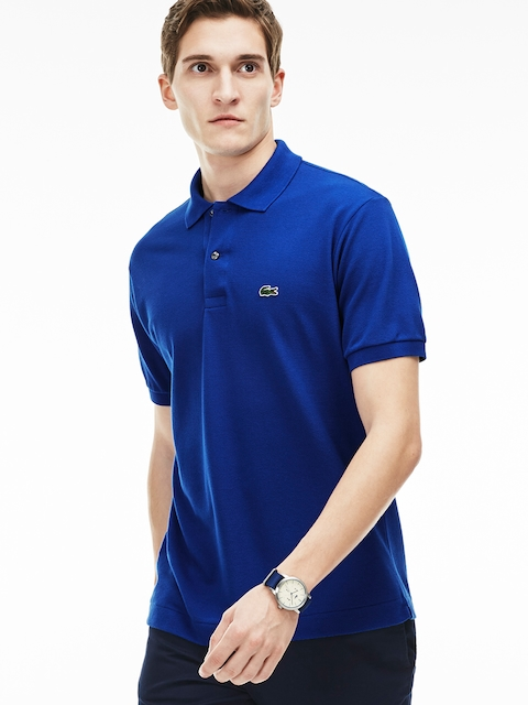 Lacoste Navy Blue Solid L.12.12 Polo