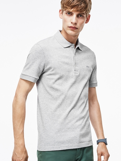 Lacoste Grey Slim Fit Petit Pique Polo