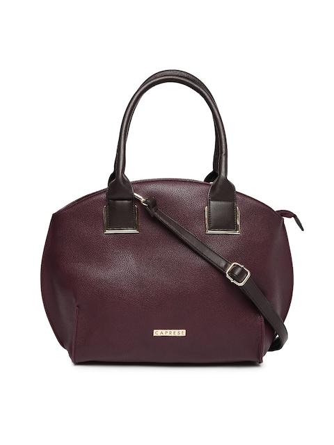 Caprese Burgundy Solid Shoulder Bag  available at myntra for Rs.1439