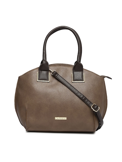 Caprese Taupe Solid Shoulder Bag  available at myntra for Rs.1439