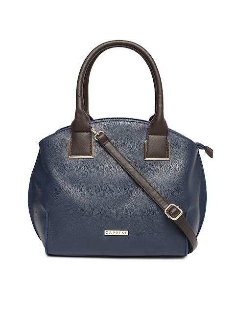 Caprese Navy Blue Solid Shoulder Bag  available at myntra for Rs.1439