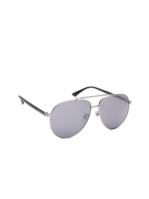 Gucci Unisex Mirrored Oval Sunglasses GG 0043/SA 001