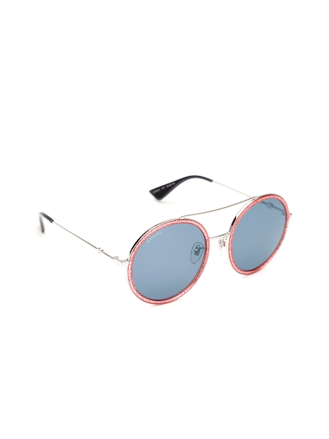 Gucci Women Round Sunglasses GG 0061/S 007