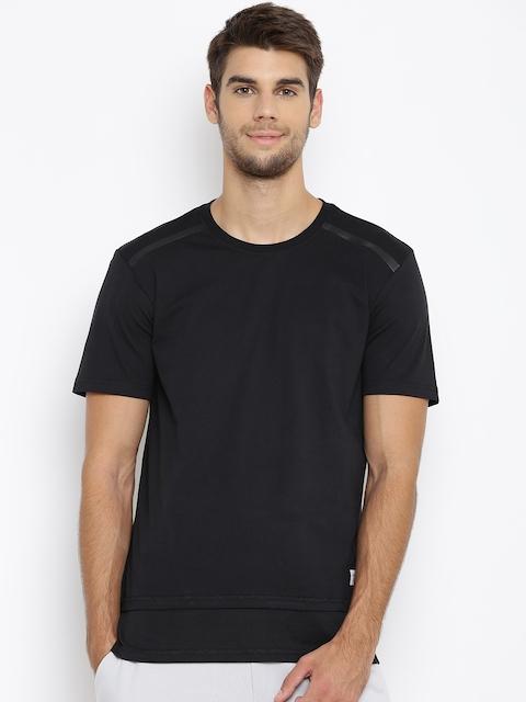 Adidas NEO Men Black UT ELG Solid Round Neck T-shirt