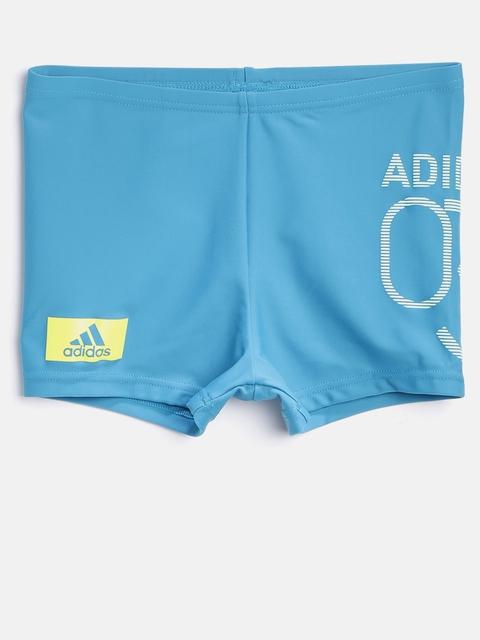 Adidas Boys Blue BTS LIN BX Printed Swim Shorts CD0855