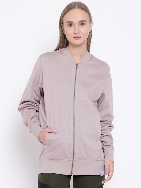 Adidas Originals Women Beige XBYO Track Solid Sweatshirt
