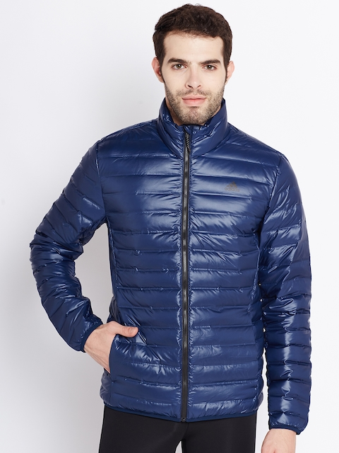 Adidas Men Navy VARILITE Solid Insulator Quilted Jacket
