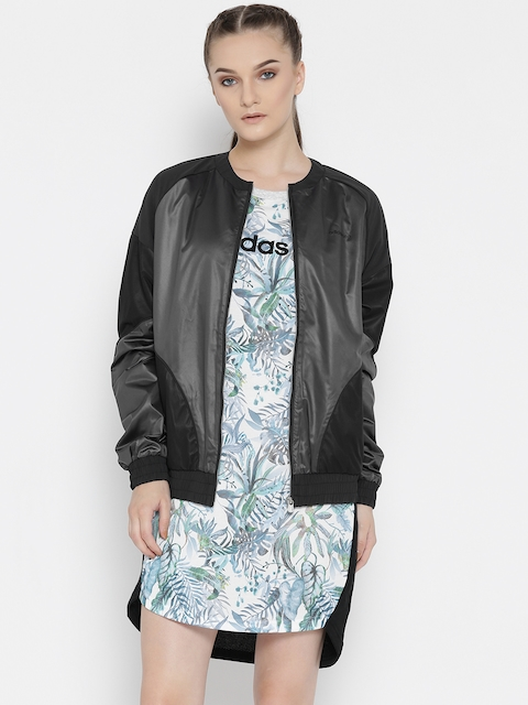 Adidas NEO Women Black STD Colourblocked Bomber Jacket