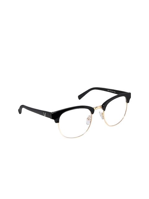 Cardon Unisex Black & Gold Browline Frames LCEWCD1351