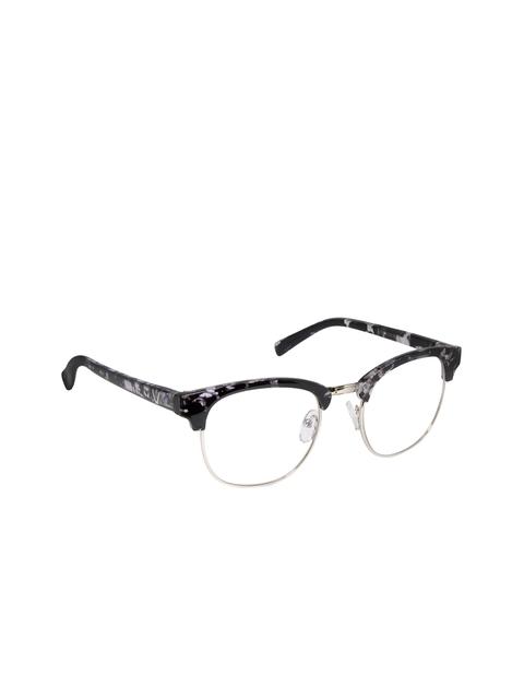 Cardon Unisex Black & Silver-Toned Browline Frames LCEWCD1354THY3004xC5