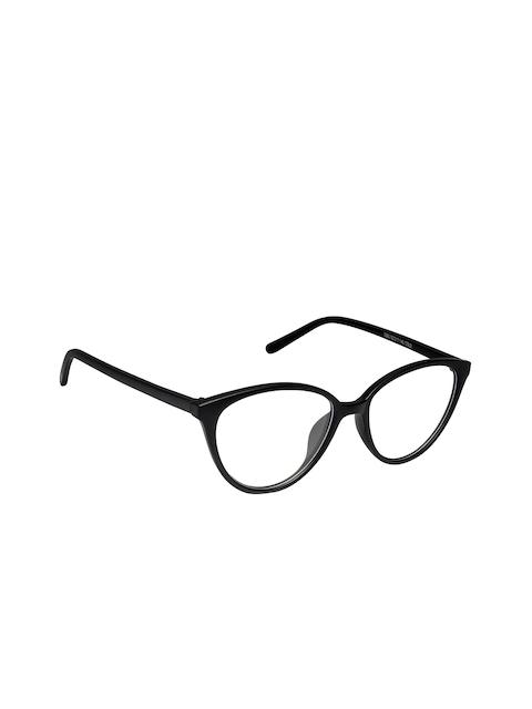 Cardon Unisex Matte Black Full Rim Cateye Frames LCEWCD1365THY2360xC2