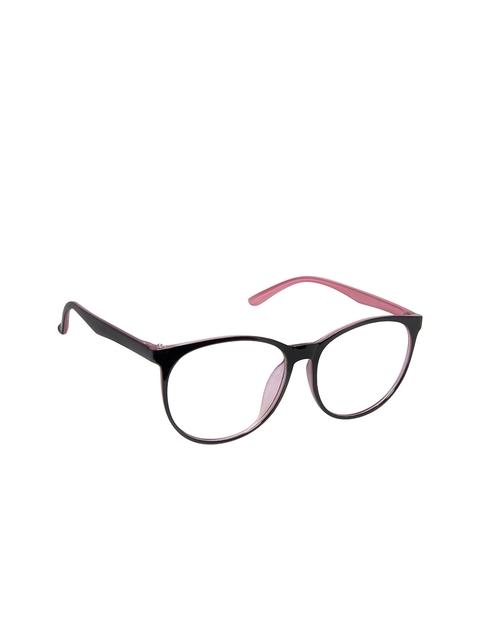 Cardon Unisex Black & Pink Oval Frames LCEWCD1384THY2374xC5