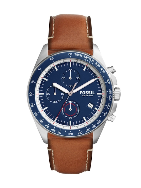Fossil Men Navy Chronograph Watch CH3039I